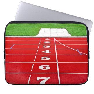 Laufende Wege auf der Bahn-Laptop-Hülse Laptop Schutzhülle