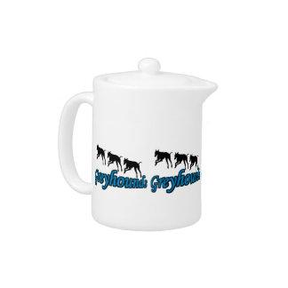 Laufende Windhund-Silhouetten