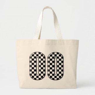 laufende Zahl des checkered Auto 00 Jumbo Stoffbeutel
