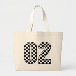laufende Zahl des checkered Auto 02 Jumbo Stoffbeutel