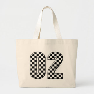 laufende Zahl des checkered Auto 02 Einkaufstasche