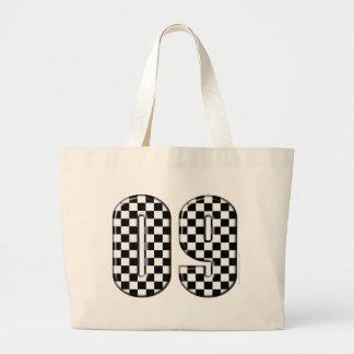 laufende Zahl des checkered Auto 09 Jumbo Stoffbeutel