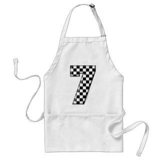 laufende Zahl des checkered Auto 7 Schürze