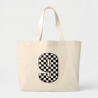 laufende Zahl des checkered Auto 9 Jumbo Stoffbeutel