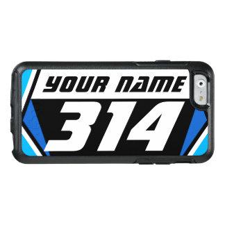 Laufende Zahl Schmutz-Fahrrad MX - Blau - weiße OtterBox iPhone 6/6s Hülle