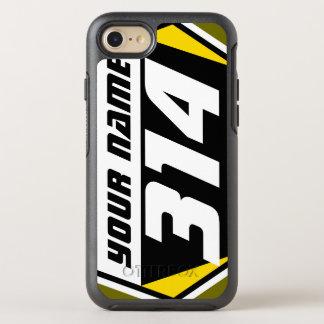 Laufende Zahl Schmutz-Fahrrad MX - Gelb - weiße OtterBox Symmetry iPhone 8/7 Hülle