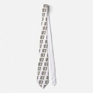 laufende Zahl von 07 Auto Bedruckte Krawatten