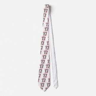 laufende Zahl von 17 Auto Bedruckte Krawatten