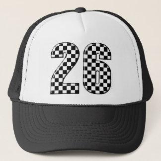 laufende Zahl von 26 Auto Truckerkappe