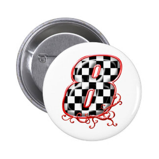 laufende Zahl von 8 Auto Runder Button 5,7 Cm