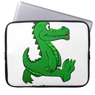 Laufender Alligator Laptop Sleeve