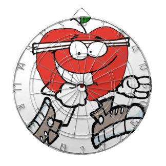 laufender Apfel Dartscheibe