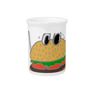 laufender Burger Getränke Pitcher
