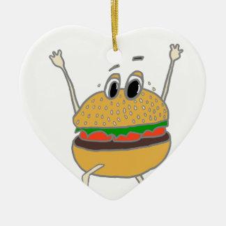 laufender Burger Keramik Ornament