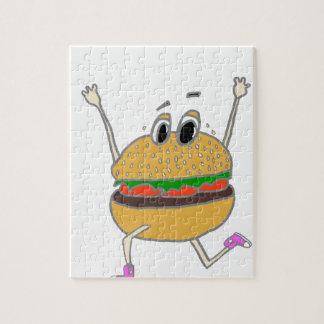 laufender Burger Puzzle