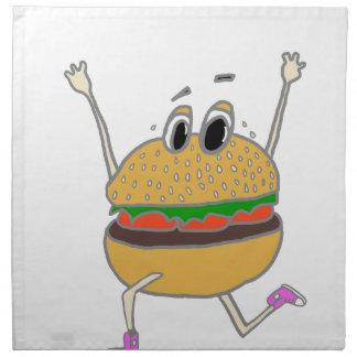 laufender Burger Stoffserviette