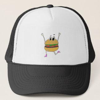 laufender Burger Truckerkappe