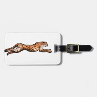 Laufender Gepard-Kunst-Gepäckanhänger Kofferanhänger