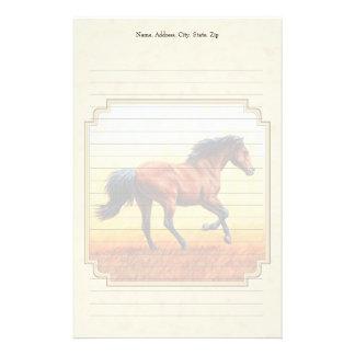 wildes pferd briefb gen selbst gestaltete wildes pferd. Black Bedroom Furniture Sets. Home Design Ideas