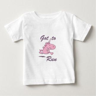 Laufendes Einhorn Baby T-shirt