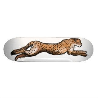 Laufendes Gepard-Kunst-Skateboard 21,6 Cm Skateboard Deck