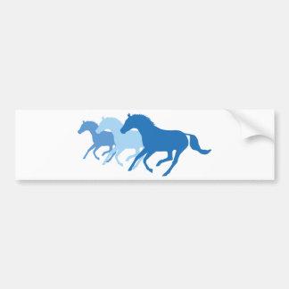 Laufendes Pferd blau Autoaufkleber