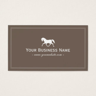Laufendes Pferd elegantes einfaches Brown Visitenkarte