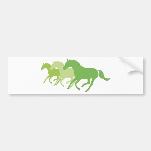 Laufendes Pferd (Grün) Auto Sticker