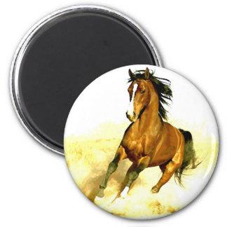 Laufendes Pferd Runder Magnet 5,7 Cm