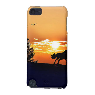 laufendes Pferd - Sonnenuntergangpferd - Pferd iPod Touch 5G Hülle