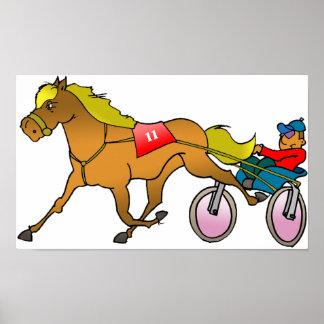 Laufendes Pferde-und Buggy-Plakat Poster