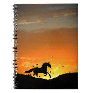 Laufendes Pferdenotizbuch Notizblock
