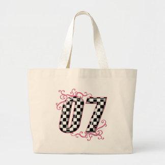 laufendes Zahlrosa mit 07 Autos Einkaufstasche