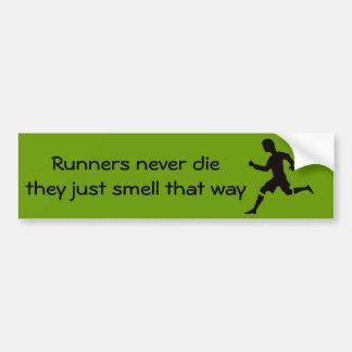 Läufer die nie sie riechen gerade so autoaufkleber