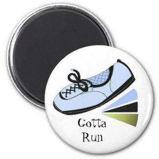 Läufer erhielt zu laufen runder magnet 5,1 cm