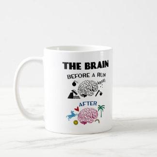 Läufer-Gehirn Kaffeetasse
