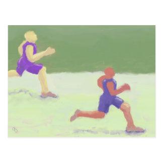 Läufer, Postkarte