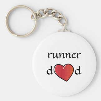 Läufer-Vati-roter Herz-Entwurf Schlüsselanhänger