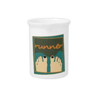Läufer-Zehen Getränke Pitcher