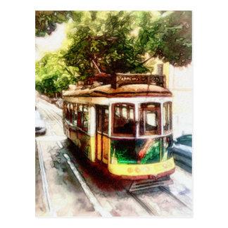 Laufkatze in Lissabon Portugal - LissabonStreetcar Postkarte