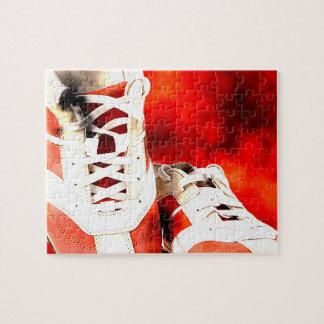 Laufschuh-Läufer-Athleten-Schmutz-Art Puzzle
