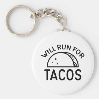 Läuft für Tacos Schlüsselanhänger