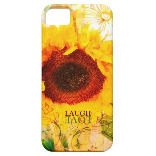 Laugh Love Sunflower iPhone 5 ArtCase iPhone 5 Hülle