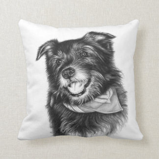 Laughing Dog - Lachender Hund Kissen