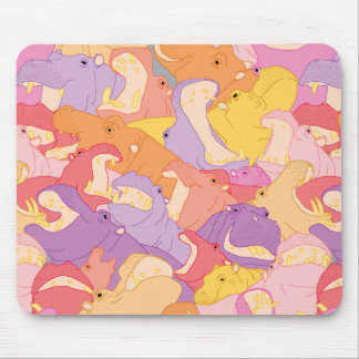 Laughing Hippos - warm colours Mauspads