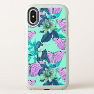 """""""Launen-"""" Schmetterlings-Druck durch OtterBox Symmetry iPhone X Hülle"""