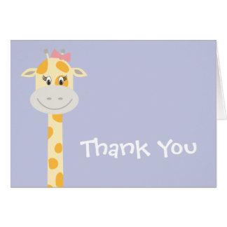 Launische Giraffe mit rosa Bogen Karte