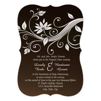Launische schokoladenbraune katholische 12,7 x 17,8 cm einladungskarte