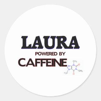 Laura trieb durch Koffein an Runder Aufkleber