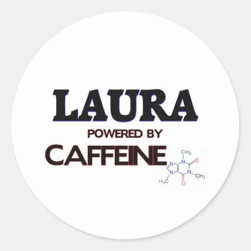 Laura trieb durch Koffein an Runder Sticker